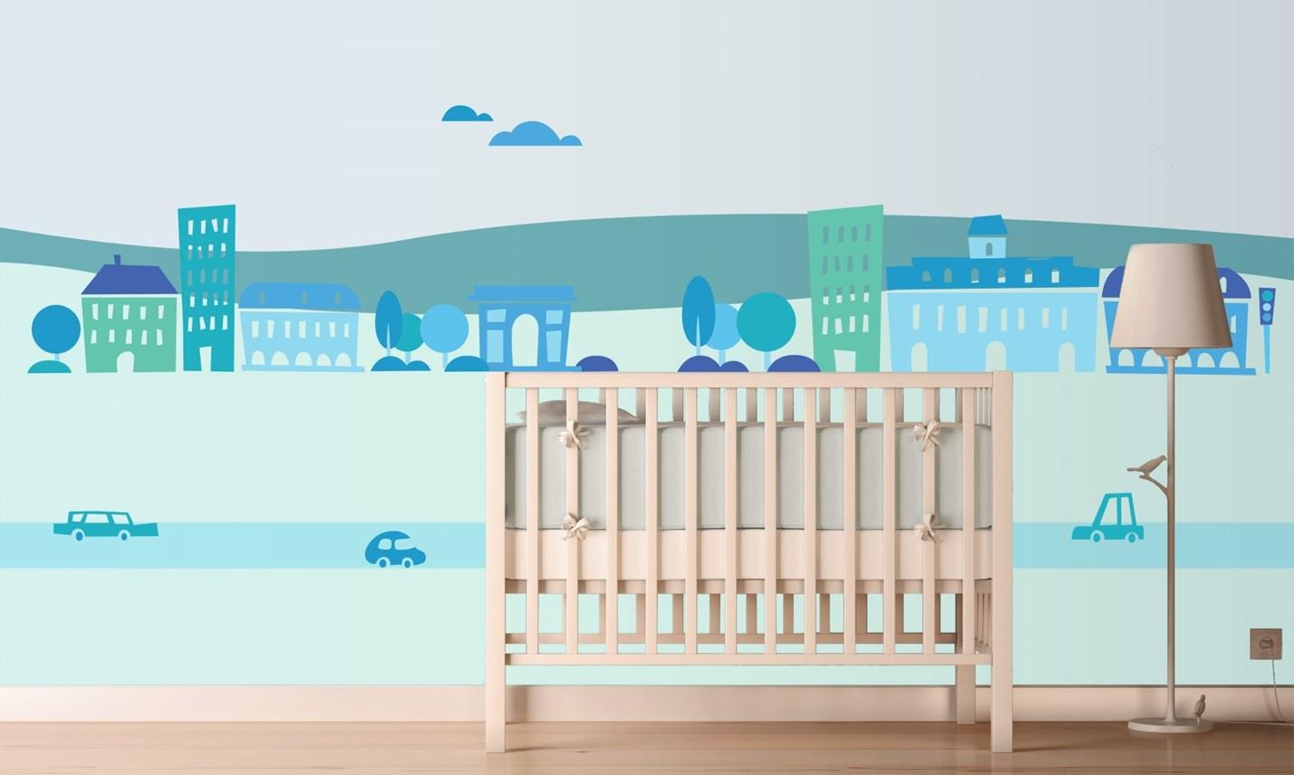 stickers murali bambini cameretta greca per bambini blu
